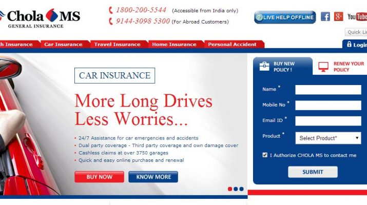 Chola Insurance - Home Page