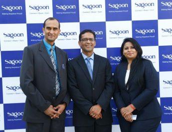 Co-Founders of Sagoon Kabin Sitoula - Govinda Giri and Swati Dayal