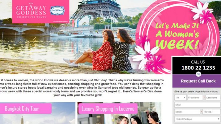 Cox and Kings - Women's Day Travel Packages