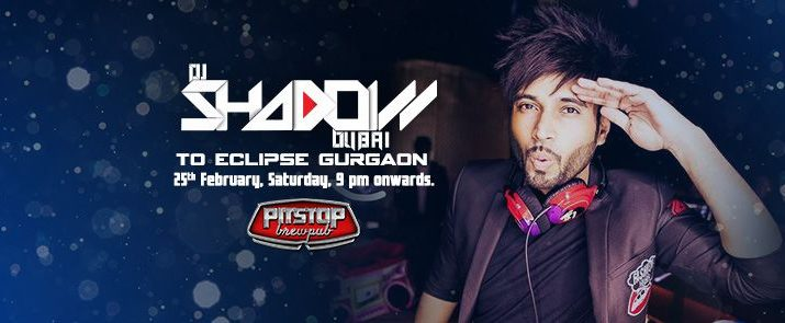 DJ SHADOW DUBAI - INDIA PERFROMANCE IN GURGAON - PITSTOP BREWPUB - 25 FEB - 9PM
