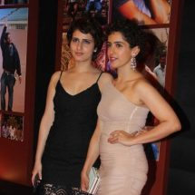 Spotted: Fatima Sana Shaikh and Sanya Malhotra in Aurelle by Leshna Shah earrings and Minawala rings