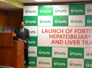 Dr Kapali Neelamekam - Director - HPB and Liver Transplant Surgery - Fortis Hospitals Bannerghatta Road at the launch
