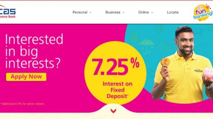 Equitas Small Finance Bank - Home Page