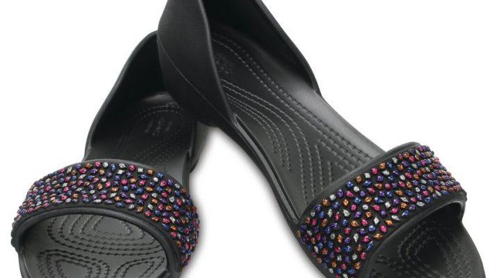 Womens Crocslina Embellish Dorsayflat Blk/MLTI Ballet Flats Crocs yLlZrwKRBD
