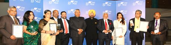 Minister P P Choudhary gives away One Globe Awards 2017