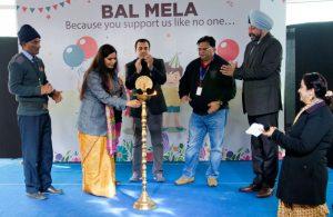 Ms Nidhi Pundhir - Director-CSR - HCL Foundation lighting the lamp at BAL MELA