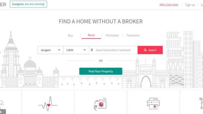 NoBroker Website - Look