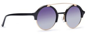 Osse Black Polarized Round Sunglasses for Men and Women Rs 8999