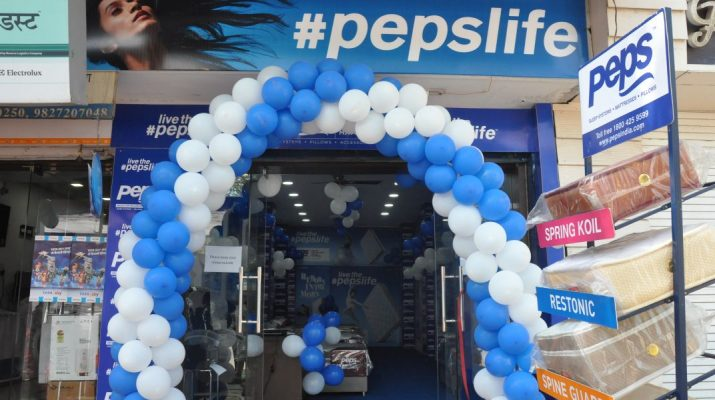 Peps Industries launches 140th exclusive mattress showroom at Satna