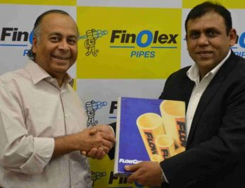 L to R Mr. Prakash Chhabria, Executive Chairman, Finolex Industries with Mr. Manish Jain, Director, Lurbrizol India.