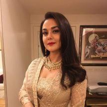 Spotted: Preity Zinta in Minawala Jewellery
