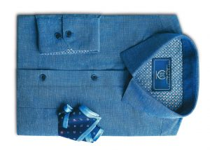 Sapphire Blue Shirt from Forma-Linens collection by Peter England_Rs 159