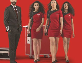 Spicejet - Male pilot and female crew