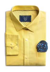 Sunset Yellow Shirt from Forma- Linens collection by Peter England_Rs 15