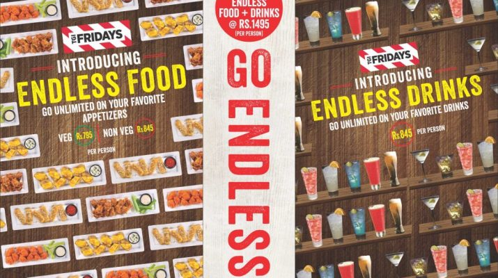 TGI Fridays - Endless Drinks Placemat Front