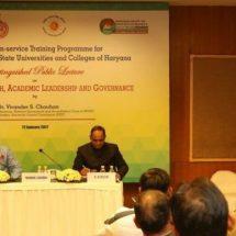 JGU conducts Faculty Development Programme for Haryana University Teachers