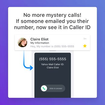 Yahoo Mail - Caller ID feature