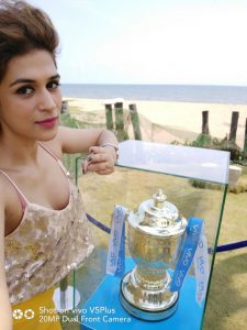 Actress Shraddha Das - VIVOIPL 2017 Trophy Tour makes a successful debut in Chennai 2