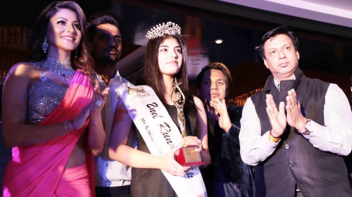 Actress Urvashi Rautela and film director Madhur Bhandarkar - Mr and Miss India 2017