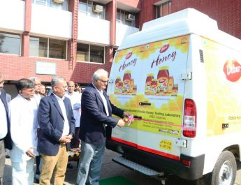 Dabur India Ltd CEO Sunil Duggal flags off Daburs Mobile Honey Testing Lab
