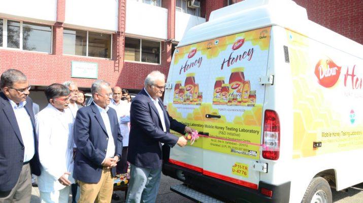 Dabur India Ltd CEO Sunil Duggal flags off Daburs Mobile Honey Testing Lab