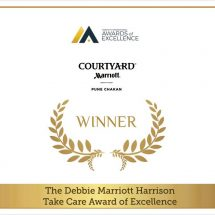 Courtyard by Marriott Pune Chakan won the Debbie Marriott Harrison TakeCare Award of Excellence