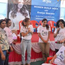 Evelyn Sharma goes through dust and grind to build homes on Women's Day