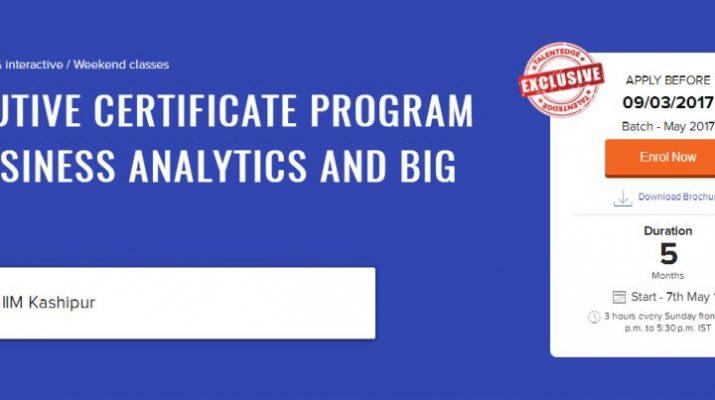 Executive Certificate Program in Business Analytics and Big Data - Talentedge - IIM Kashipur