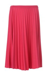 FabAlley - PINK KNIFE PLEATED MIDI SKIRT- INR1900