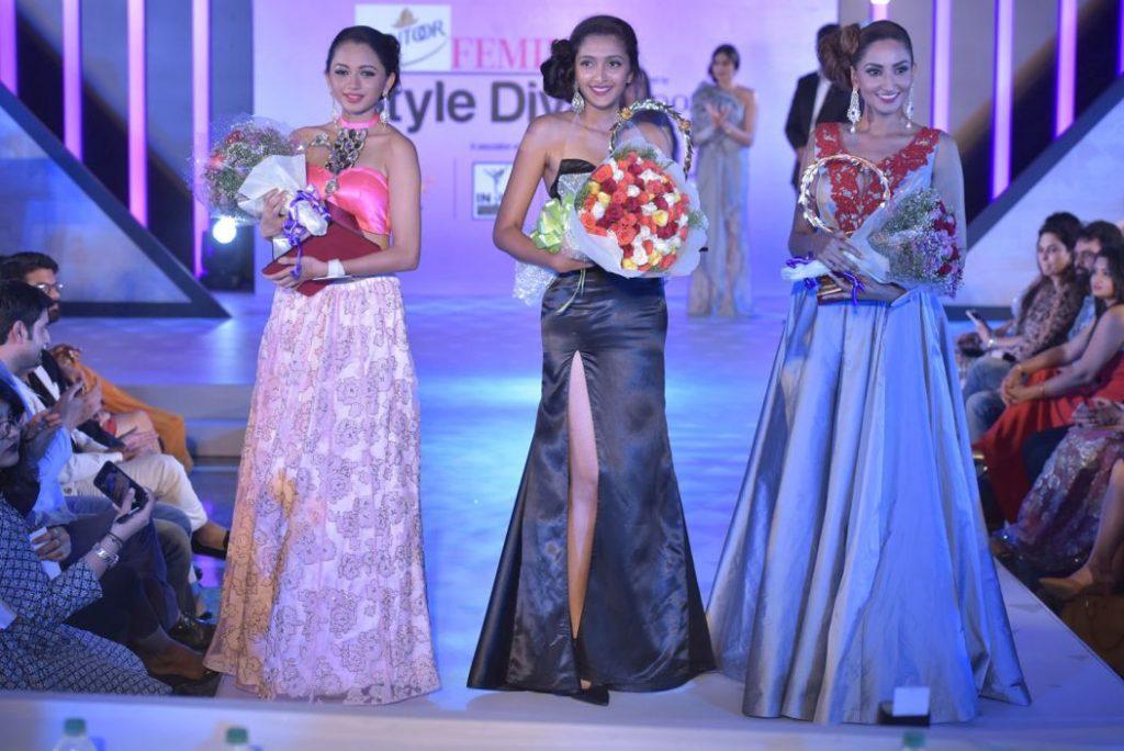 First runner up Bhavana Sreepad - Santoor Femina Style Diva South 2017 Ashna Gurav - Second runner up Anookya Harish 2