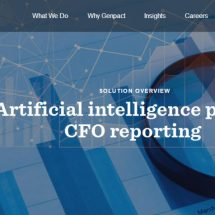 Genpact Leverages Artificial Intelligence to Help CFOs Run Smarter Organizations with Faster, More Accurate Financial Reporting