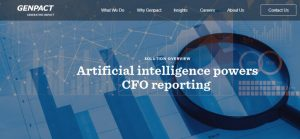 Genpact - Artificial intelligence - CFO - Accurate Financial Reporting