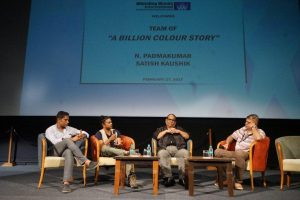 L to R Gaurav Sharma - Padamkumar - Satish Kaushik - Somnath Sen - Whistling Woods International