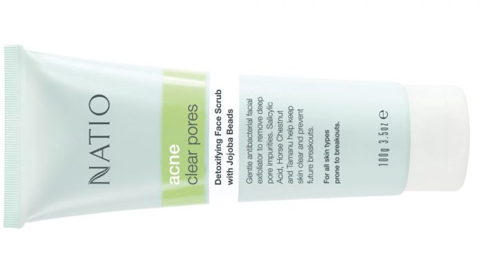 Natio Detoxifying Face Scrub with Jojoba Beads 100g - INR 790 - skincare