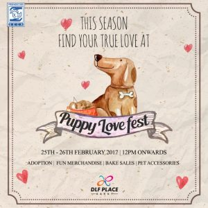 Puppy Love Fest at DLF Place - Saket - Invite
