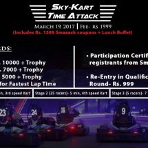 GO-KARTING TIME TRAIL TOURNAMENT@SMAAASH