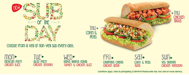 SUBWAY® - Sub of the Day