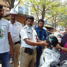 Fortis Hospitals in association with Bangalore Traffic Police reminds bikers of safety on World Head Injury Day