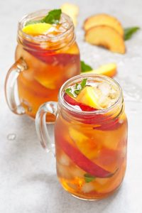 Typhoos Summer time recipes - Iced Peach Mint Green Tea