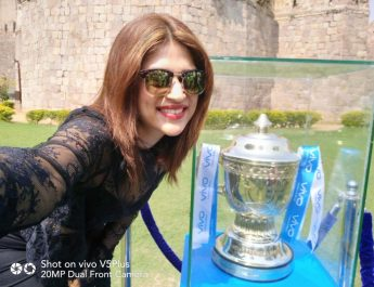 VIVOIPL 2017 trophy reaches Hyderabad