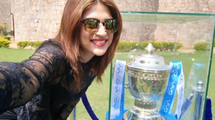 VIVOIPL 2017 trophy reaches Hyderabad
