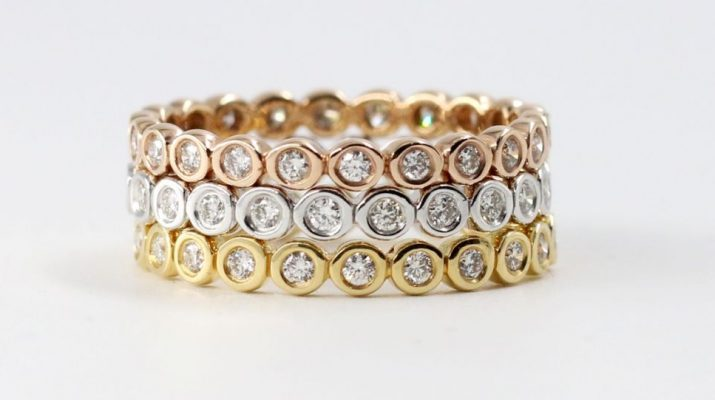 Virani Gems - Bezel Eternity Trio Band - INR 46276