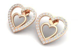 Virani Gems - Evie Heard Diaomd Earrings - INR 52858