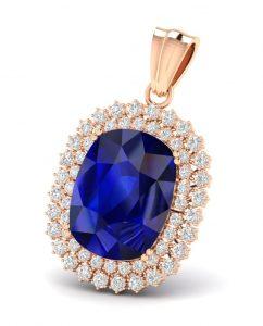 Virani Gems - Jill Delight Blue Sapphire Pendant - INR 131492