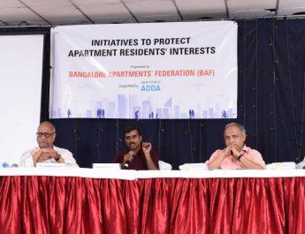 Bangalore Apartments Federation - Panel Discussion - Nanda Kumar - Dr Ananth Kodavasal - Srikanth Narasimhan - Dr T V Ramachandra - Mr Jaigopal Rao