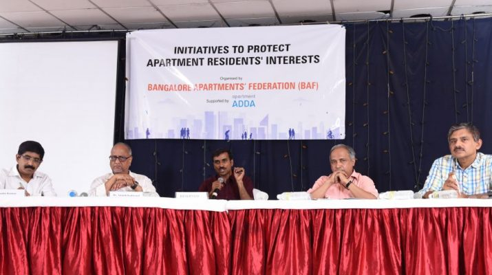 Bangalore Apartments Federation - Panel Discussion - Nanda Kumar - Dr Ananth Kodavasal - Srikanth Narasimhan - Dr T V Ramachandra - Mr Jaigopal Rao