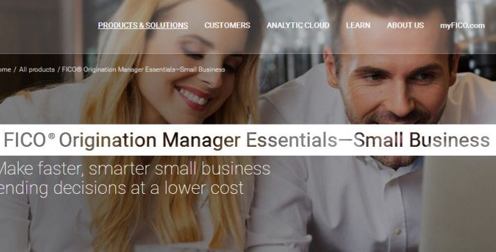 FICO - Origination Manager Essentials - Cloud based solution
