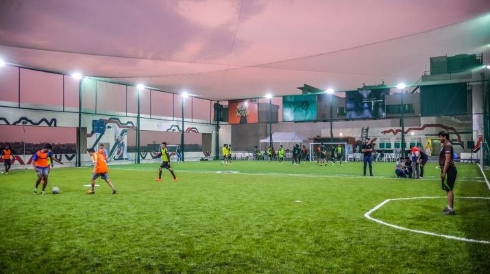 Indias largest rooftop football arena launched at Embassy Manyata Business Park 2