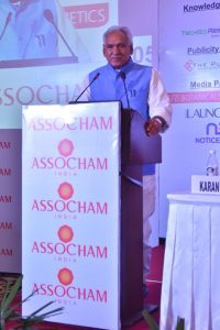 C R Chaudhary - minister of state - ASSOCHAM COSMe India 2017 - Personal Care Products