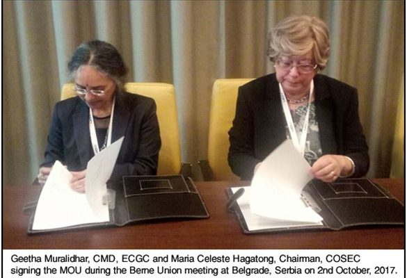 ECGC SIGNS MOU WITH COSEC OF PORTUGAL